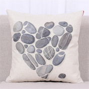 TQP-CK 46cm x 46cm Square Cotton Linen Cushion Cover Cute Pillow Case