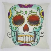 TQP-CK 46cm x 46cm Square Cotton Linen Cushion Cover Cute Pillow Case