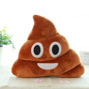 Usstore Mini Cute Emoji Emoticon Cushion Poo Shape Soft Plush Pillow Doll Toy Throw Pillow Cover Cases 23*20cm(L*H)/9.1*7.9""
