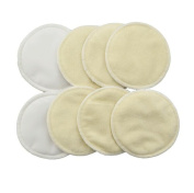 Love My Antibacterial Soft Bamboo Water Absorbent Nursing Pads for Breastfeeding Mothers, 4 Pair(8 pads)