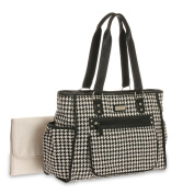 Carters City Tote Black / Grey Houndstooth Tote - Nappy Bag