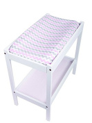 Bambella Designs Nappy Changing Mat Cover - Pink Chevron
