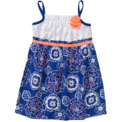 Healthtex Baby Toddler Girl Essential Summer Knit and Woven Rosette Dress