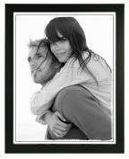 Malden International Designs Linear Wood Picture Frame, 28cm by 36cm , Black