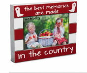 Pavilion Gift Company We Baby The Best Memories are Made in The Country Picture Frame, Red, 15cm x 10cm