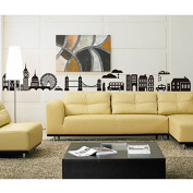 Cityscape Tower Bridge Bus Building Wall Sticker Paper Home Decal Removable Wall Vinyl Living Room Bedroom PVC Art Picture Murals Waterproof DIY Stick for Adults Teems Childres Kids Nursery Baby