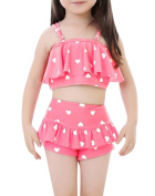 Only Faith Lovely Baby Girl Two Piece Swim Set Pricess Swimsuit