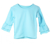 Little Girls Top with Ruffle Sleeve - 11 Colour Options!