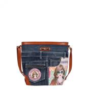 Nicole Lee Wanda Denim Print Cross Body Bag, Suzy