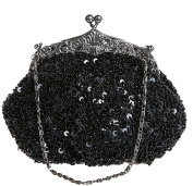 Bywen Womens Sequined and Beaded Purse Party Clutch Shoulder Bags