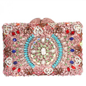 Digabi Circle Pattern Square Shape Women Crystal Evening Clutch Bags