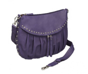 GTM-50 Studded Uptown Purple Pleated Concealed Carry Purse