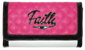 Hot Pink Faith and White 19cm x 11cm Quilted Inspirational Tri-fold Wallet