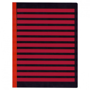 Full Page Fold-Over Writing Guide - Black-Red