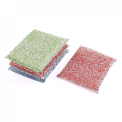 uxcell® Home Kitchen Dish Bowl Scouring Sponge Pad Cleaner 4Pcs