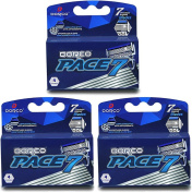 Dorco Pace 7 - World's First and Only Seven Blade Razor- 12 Cartridges