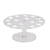 16-Hole Acrylic Clear Circle Cupcake Ice Cream Cone Display Holder Stand