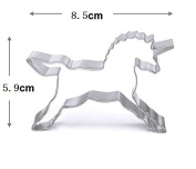 WJSYSHOP Unicorn Horse Shape Cookie Cutter for Celebrations Christmas Birthday Party Wedding Holiday