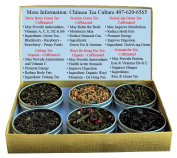 Tea Sampler - Green Tea - Oolong Tea - Wuyi Tea - Da Hong Pao Tea - Berry Tea - DaJeeLing Tea - Jasmine Green Tea - Genmaicha Tea - Rice Tea - Tea - Loose Leaf Tea