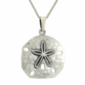 Sand Dollar 925 Sterling Silver Beach Ocean Sea Pendant Necklace Chain