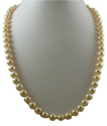 Fresh Water Cultured Semi Round Pink Pearl Necklace 8.8mm - 8.7mm 14k Yellow Gold Clasp