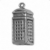 Sterling Silver Necklace British Telephone Booth Pendant 46cm Chain