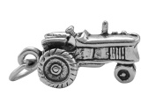 Sterling Silver Necklace Tractor Pendant 46cm Chain