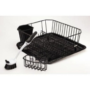 Rubbermaid 4-Piece Antimicrobial Sink Set, Black