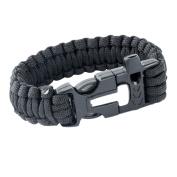Sizet Survival Paracord Bracelet With Whistle/Flint Fire Starter/Scraper