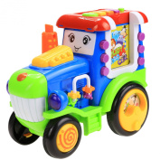 Arshiner Pull and Learn Alphabet Digital Light Music Car for Toddlers