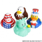 GIFTEXPRESS 12 pcs Patriotic Rubber Duckies