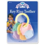 Baby King Key Ring Teether 12 Pack, Assorted Colours