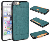 KroO Apple iPhone 6/6S 12cm TPU Case | Snap-On Protector With Credit Card Slot [Emerald Green]