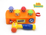 Whack-A-Mole Construction Hammer Time Play Set From Little Treasures With Smack down Mole Station and Play Toy Hammer