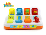 Preschool Learning Toy Pop-Up Animals Colourful animal set . aged toddlers