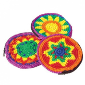 Dozen Assorted Jamaican Inspired Knitted Knit Coin Purses