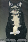 Bucilla Plastic Canvas Needlepoint Kit ~ Cat and Mouse Doorstop