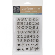 Hero Arts Vaulted Letters by Lia Clear Stamp Set