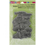 Stampendous cling rubber stamp fairy friend
