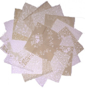 80 13cm Quilting Fabric Squares Cream and Sugar/neutrals Charm Pack