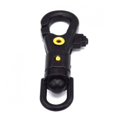 20pcs Plastic Swivel Snap Hook for Weave Paracord Lanyard Buckles Black