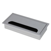 Table TV Cabinet Desk Aluminium Alloy Rectangle Wire Cable Grommet Hole Cover