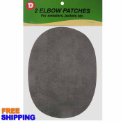 IRON-ON 11cm x 15cm FAUX-SUEDE ELBOW PATCHES CT. 2