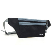 OrrinSports 3 Zippers Waterproof Polyester Sports Fanny Pack with Waist Belt