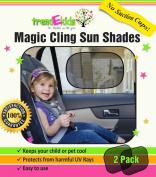 trendEkids Premium Baby Car Window Magic Cling Sun Shades. Blocks 97% of Harmful UV Rays Protects Your Child From Sunlight Glare 2X Ultimate Child Car Side Window Sunscreens.