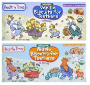 Healthy Times Organic Biscuits For Teethers With Cacium 2 Flavour Sampler Bundle