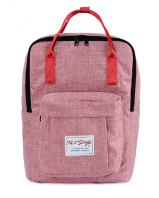[HotStyle Basic Classic] Bestie Cute Nappy Bag Backpack for Mom (18 Litres), Red