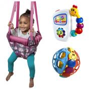 Evenflo Jenny Jump Up Doorway Jumper with Baby Einstein Activity Toys