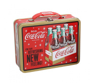 "Coca-Cola Embossed Metal Lunch Box ""Coke"""