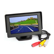 Esky 11cm TFT LCD Colour Display Rear View 180 Degree Adjustable Monitor Screen for Vehicle Backup Camera, Black